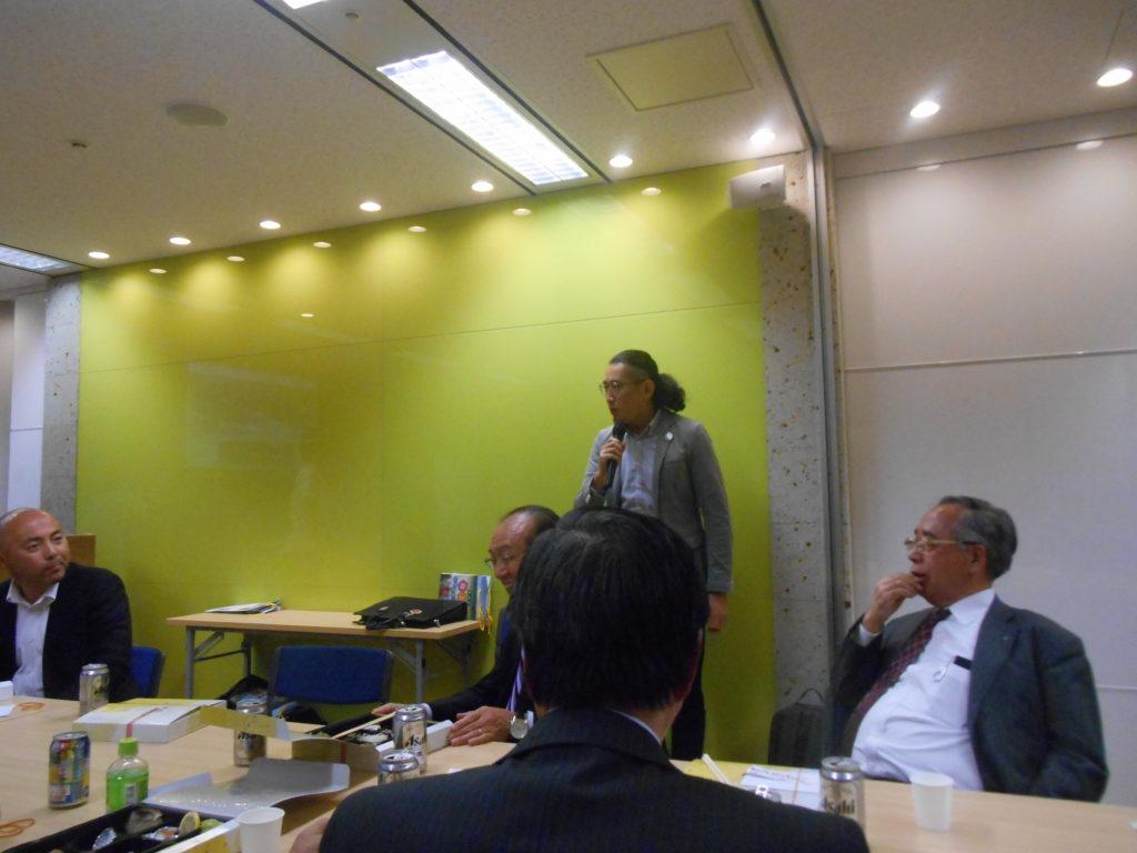 2016年11月17日(木)青森県階上町浜谷町長をお呼びしての勉強会を開催しました。