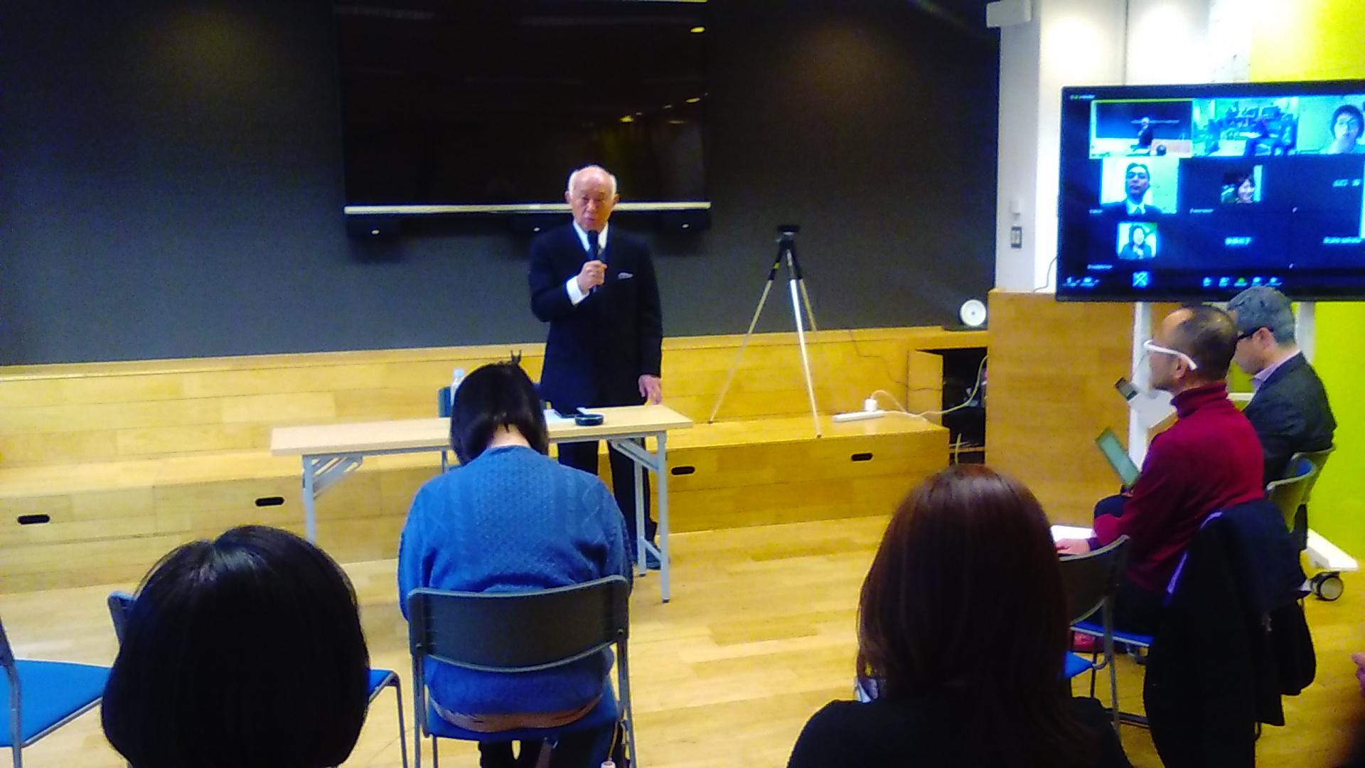KIMG1477 - 100年続く美しい会プロジェクトでは 2月7日(金)松前兼一講師「存在感と透明感」をテーマに講演